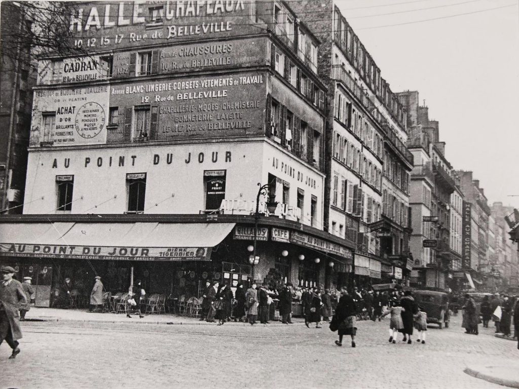 carrefour-belleville-Jean Roubier1933